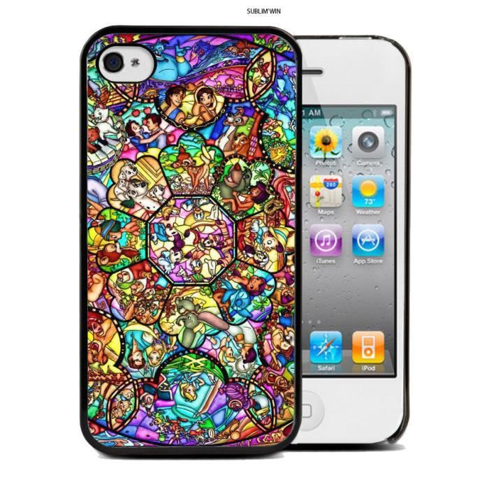 Coque Iphone 4 - 4s Disney Mosaique swag princesse case Mickey ...