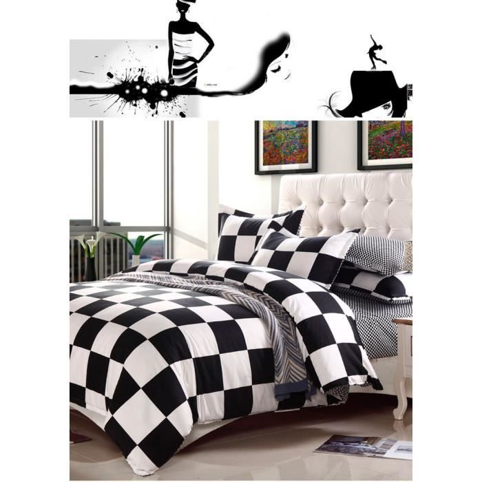 literie de luxe ensembles de mariage bed set linge linge de lit housse de couette en blanc noir. Black Bedroom Furniture Sets. Home Design Ideas
