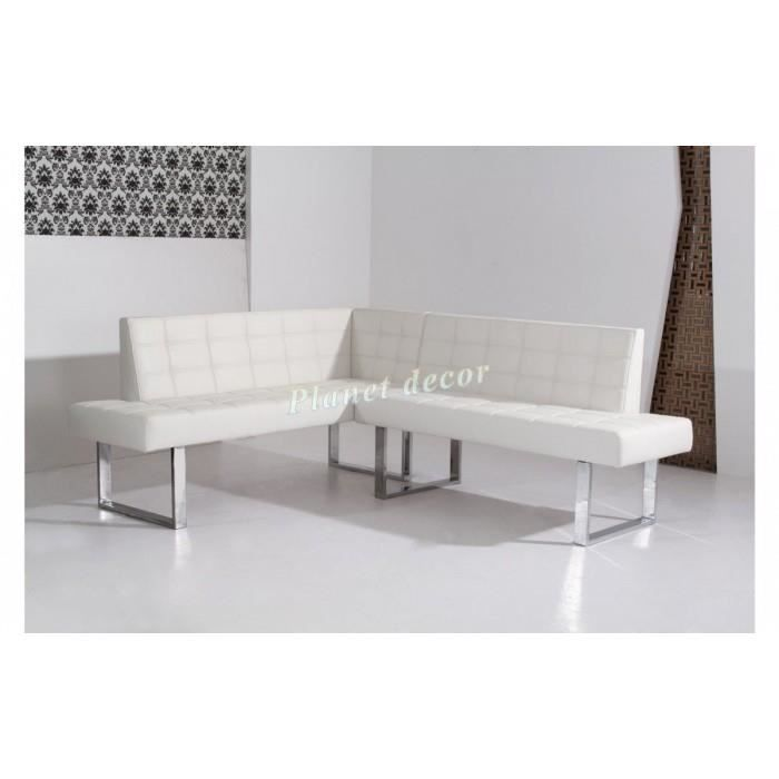 banquette coin repas angle droit simili cuir favori blanc achat vente clic clac cdiscount. Black Bedroom Furniture Sets. Home Design Ideas