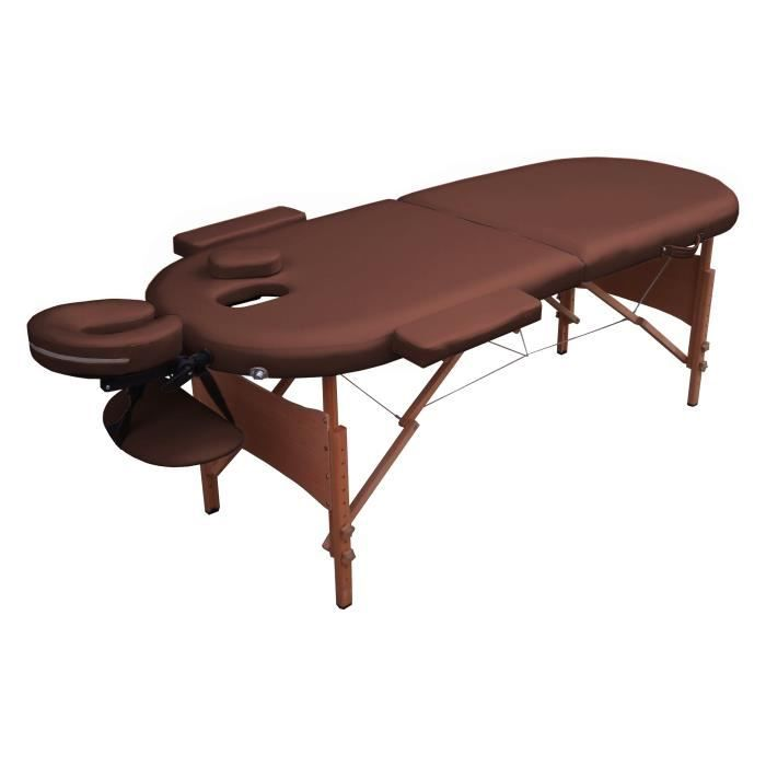 Ogh table de massage marron pliante portable bois achat vente table de massage ogh table de - Table de massage pliante bois ...