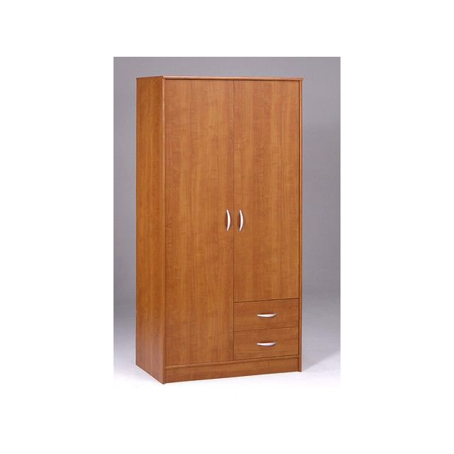 armoire de rangement 2 portes 2 tiroirs bibana achat. Black Bedroom Furniture Sets. Home Design Ideas