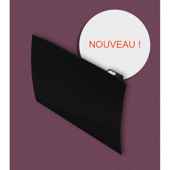 radiateur cintre noir s bow c ramique lcd 1500w achat. Black Bedroom Furniture Sets. Home Design Ideas