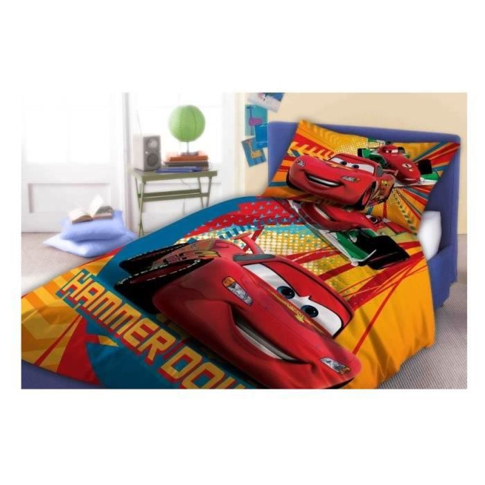 cars flash mcqueen linge parure de lit housse de couette 160x200 taie 70x80 id e d co. Black Bedroom Furniture Sets. Home Design Ideas