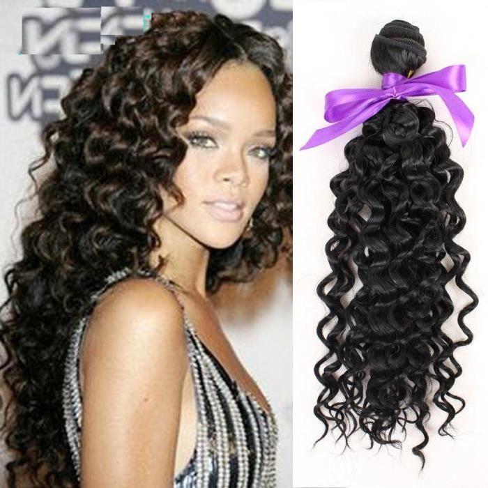 PERRUQUE - POSTICHE 3 Tissages Brésilien Cheveux Deep curly Extensions