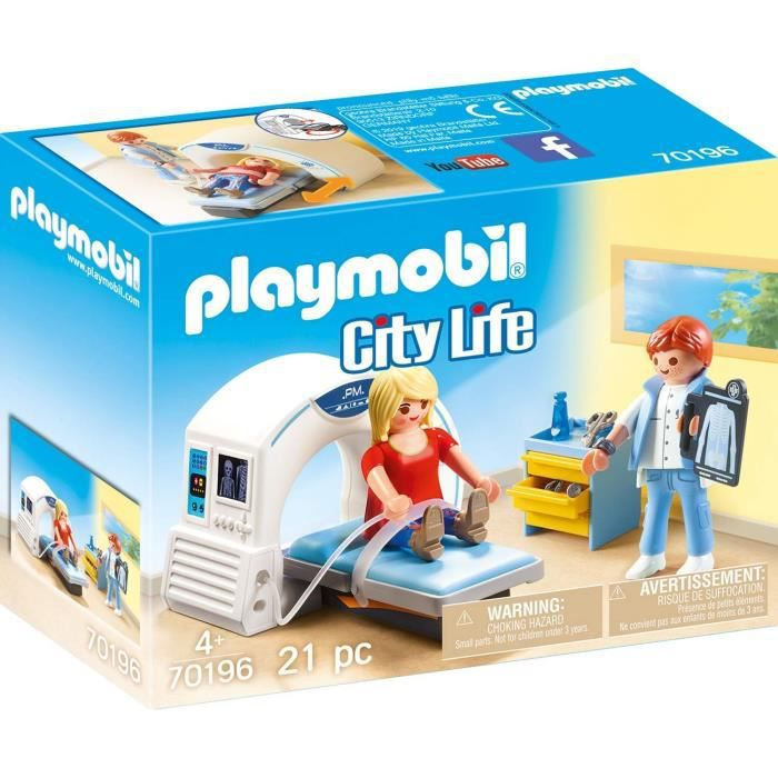 UNIVERS MINIATURE PLAYMOBIL 70196 - City Life L'Hôpital - Salle de r