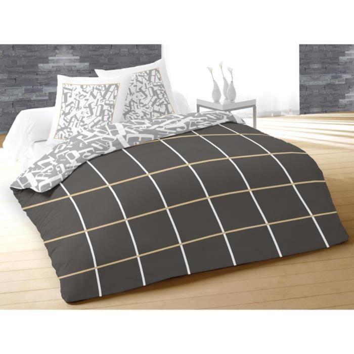 Parure de couette housse et 2 taie d/'oreiller zippée King Size 100/% coton Sofya Vert