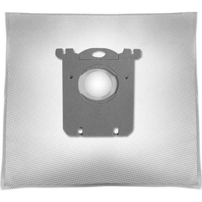 10 sacs pour aspirateur adapté pour Hanseatic Comfort 1000