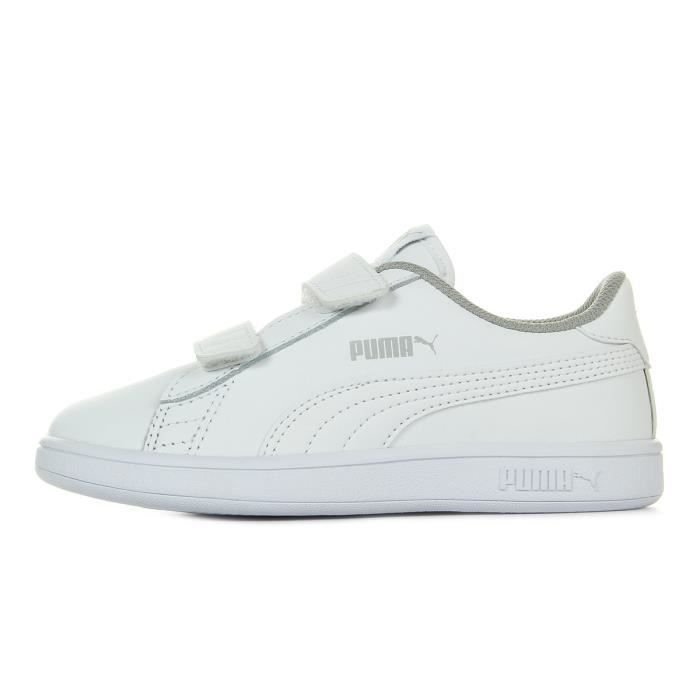 Baskets Puma Smash V2 L Jr Ps White