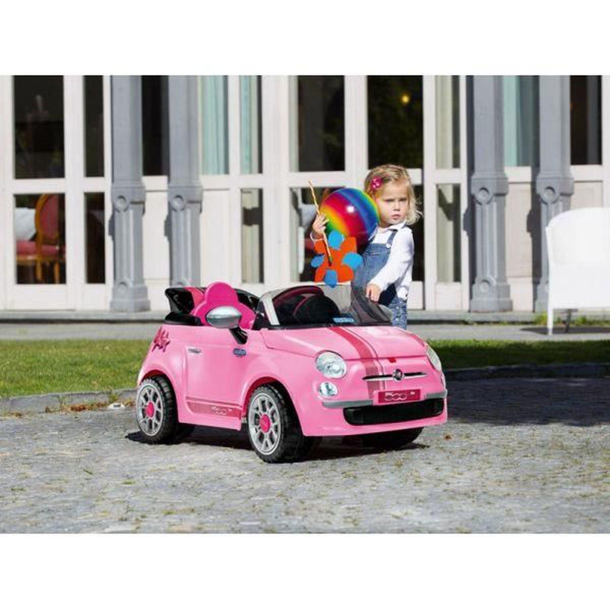 Voiture Electrique Enfant Fiat 500 S Rose 113 Cm Achat Vente Voiture Electrique Enfant Cdiscount