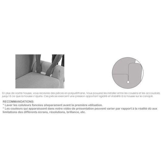 Housse de Fauteuil Relax /élastique Aitana Couleur Beige Nous Contacter pour Plus dinformations Taille Standard