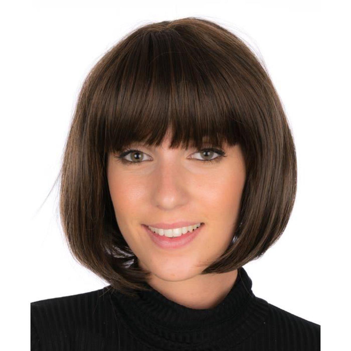 Perruque De Luxe Carre Plongeant Avec Frange Tres Grande Qualite Cheveux Synthetique Femme Chatain Achat Vente Perruque Postiche Perruque De Luxe Carre Plon Cdiscount