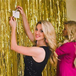 RIDEAU Shimmer rideau de porte & Fringe Guirlandes Foil R