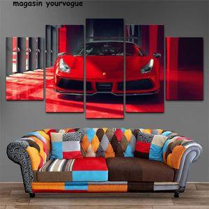 TABLEAU - TOILE Sans cadre HD toile imprimé peinture 5 pièce Mur A