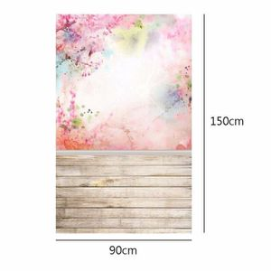 FOND DE STUDIO WANG  Toile de Fond Tissu 90x150cm fleurs roses Ph