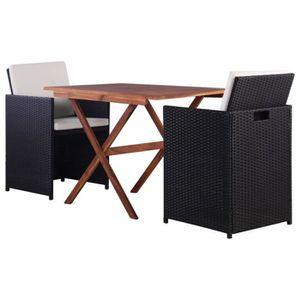 Ensemble table et chaise de jardin Festnight Ensemble de Bistro de Jardin en résine t