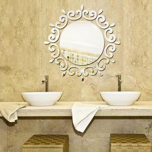 STICKERS Argent miroir mural autocollants chambre salon sal