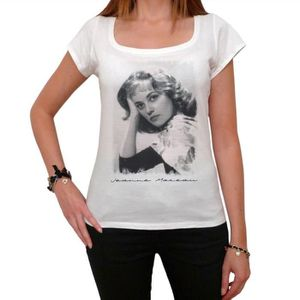 T-SHIRT Jeanne Moreau T-shirt, Femme Tshirt Blanc, Cadeau