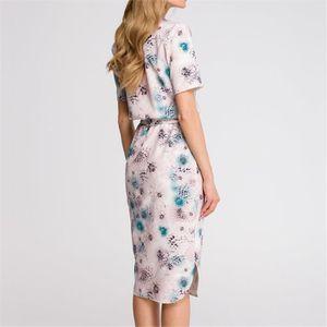 ROBE Mode féminine imprimé fleurs robe à manches longue