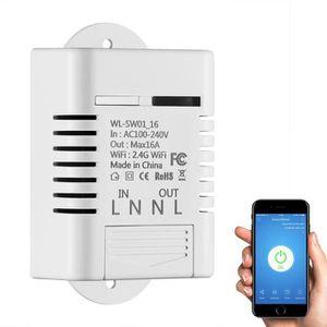 INTERRUPTEUR ÉLECTRO. 16A Commutateur Interrupteur WiFi Intelligent sans