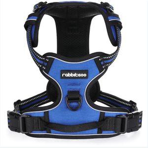 HARNAIS ANIMAL Harnais Chien - Gilet pour chien- Bleu taille L --