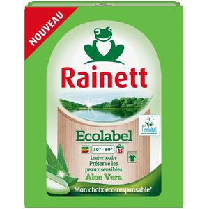 LESSIVE Rainett Lessive Poudre Ecolabel Aloe Vera 2,345 kg