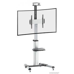 FIXATION - SUPPORT TV RICOO Meuble sur pied TV Roulettes Design FS0444 S