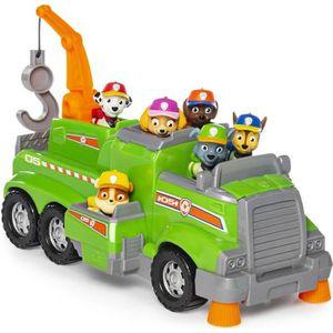 FIGURINE - PERSONNAGE PAT PATROUILLE Camion de recyclage de Rocky TEAM R