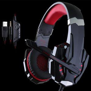 CASQUE - ÉCOUTEURS Usiful® rouge casque gamer ps4. casque gamer 7.1 p
