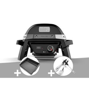 BARBECUE Barbecue électrique Weber Pulse 1000 + Plancha + K
