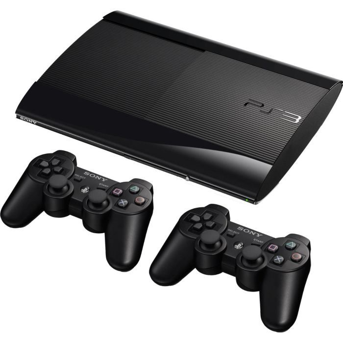 console ps3 slim noire 12 go console ps 3 slim noire 12. Black Bedroom Furniture Sets. Home Design Ideas
