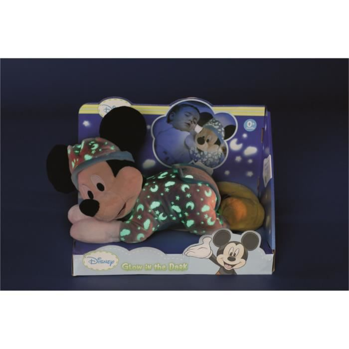 PELUCHE DISNEY Mickey Doudou Bébé Glow in the Dark Flurore