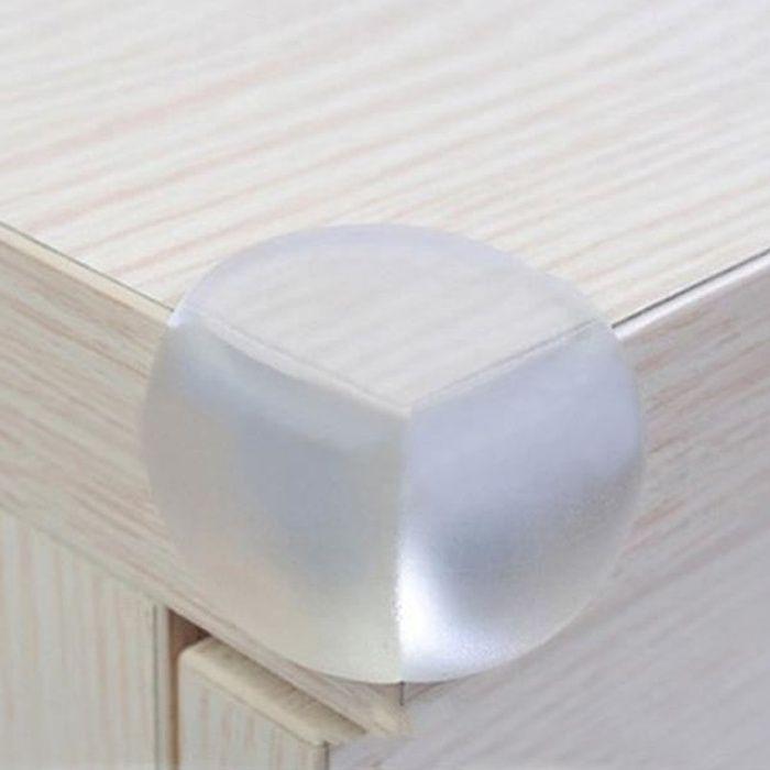 Lot de 4 protèges protection de coins de table en silicone sécurité bébé + adhésif