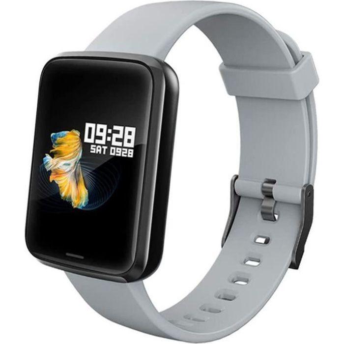 Lintelek ,Montre Connectée Pression Artérielle Cardio Fréquence Smartwatch Bracelet Connecté Ecran Couleur Montre Sport Etanche Podo