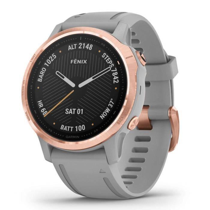 Fenix 6S - Or rose avec bande grise