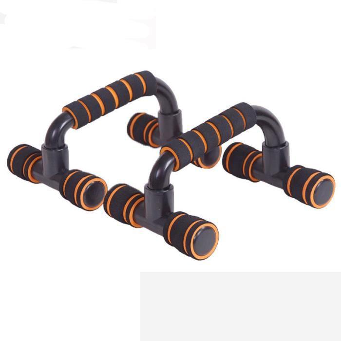 Orange Poignées d'appui pour Pompe-Push-Up Bars Dispositif pour Musculation