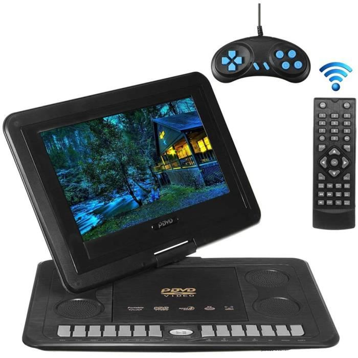 Lecteur DVD Portable, Lecteur DVD De Voiture Domestique TV HD 13,8 Pouces, Support De Rotation À 270 Degrés, Entrée-Sortie AV [195]