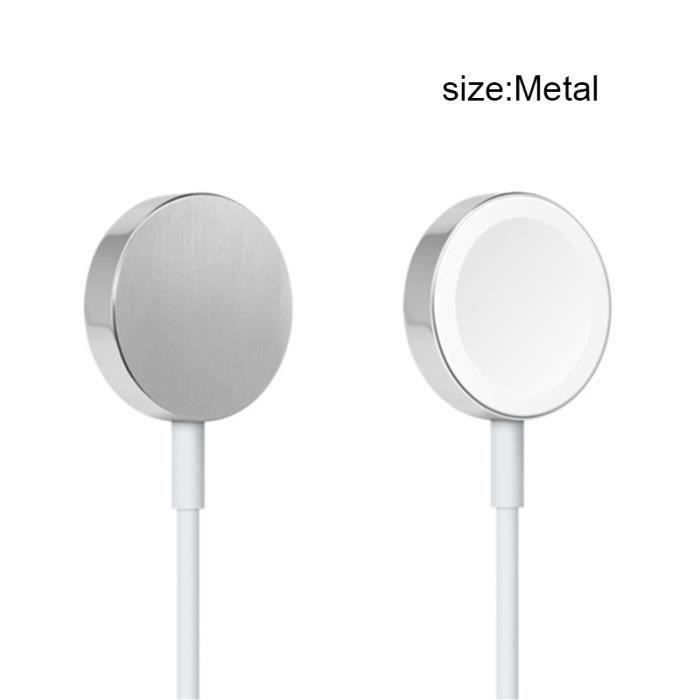1M Chargeur magnétique pour montre compatible Apple Watch iWatch 38mm - 42mm,Câble de charge,Métal