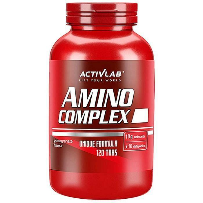 amino complex 120 comprimés à croquer bcaa + à spectre complet dacides aminés essentiels l-glutamine anabolique + anticata