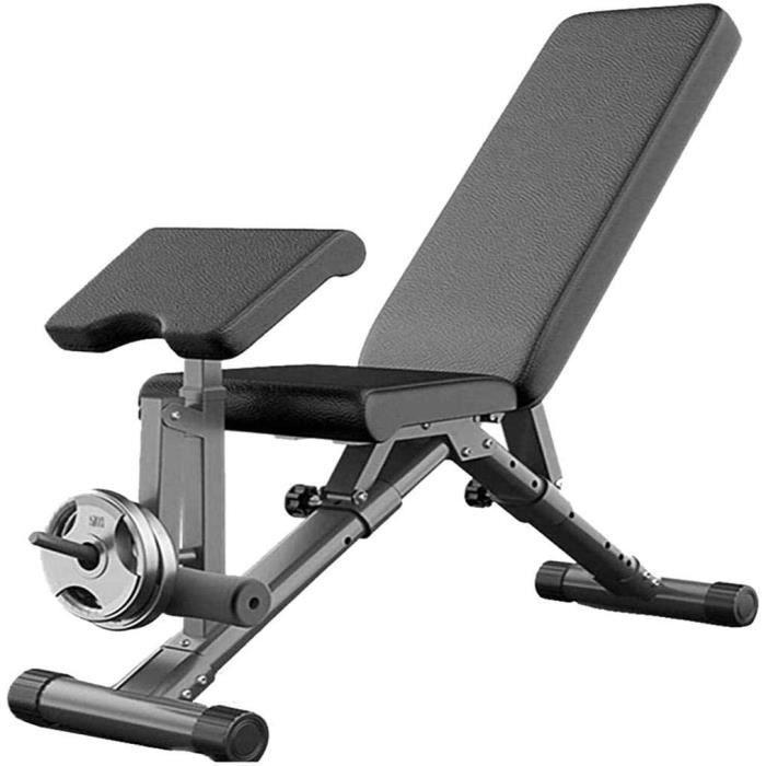 BANC DE MUSCULATION Banc de musculation 7 en 1 pliable pour entra&icircnement et musculation du corps - Charge maximale : 250 k501