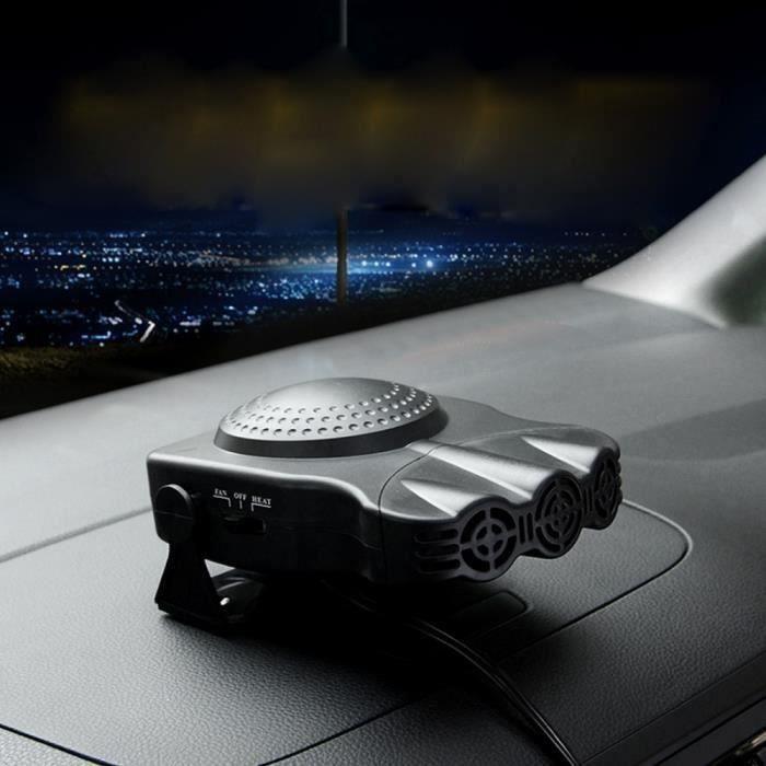 Chauffage D'appoint Pour Vehicule-Car FAN-Ventilateur ou Chauffage pour voiture-prise allume cigare DC 12V-Noir Wir78