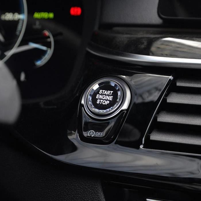 Antivol - Bloque Roue,Faux Crystal Start-bouton d'arrêt pour BMW X1-2-3-4-5-6-7 série E90 F30 accessoires de voiture