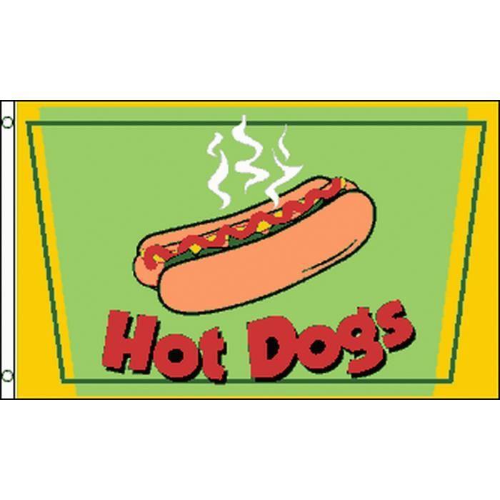 Drapeau Hot-dog 150x90cm - des hotdogs Haute qualité