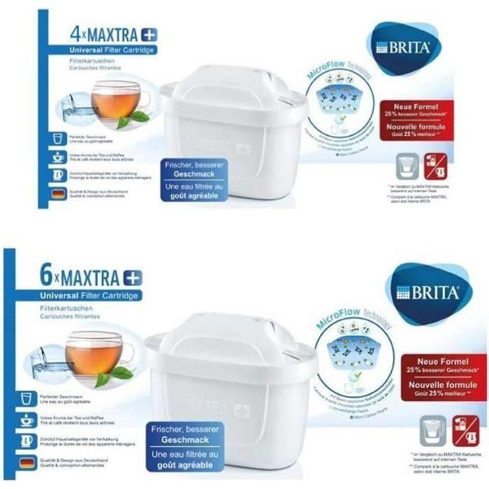 Brita plus de 9 filtres à eau Pack de 10 cartouches MAXTRA+ pour carafes filtrantes