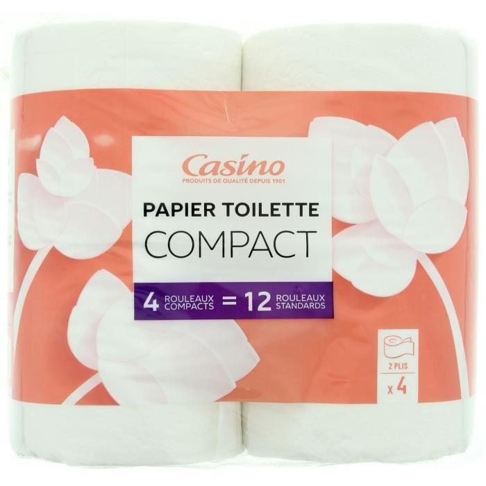 CASINO Papier Hygiénique Compact 4=12