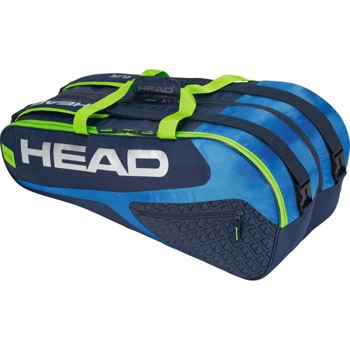HEAD Elite 9R Supercombi Sac de Raquette de Tennis N-A Bleu-Vert