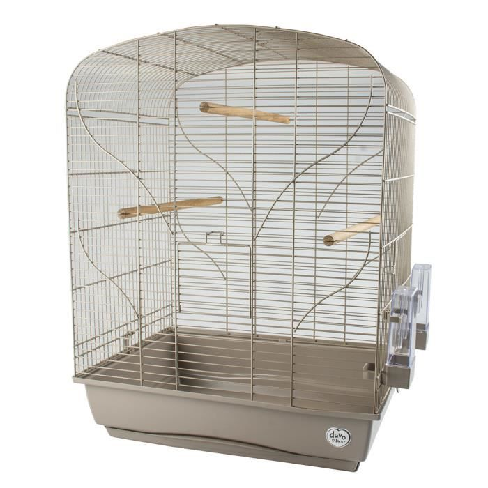LAROY DUVO Cage pour oiseaux Mocha Bella - 54 x 39 x 71 cm - Moka