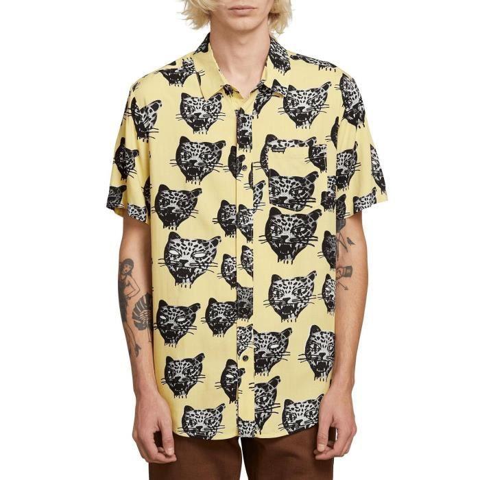 Chemise Volcom Ozzie Cat Lime Homme