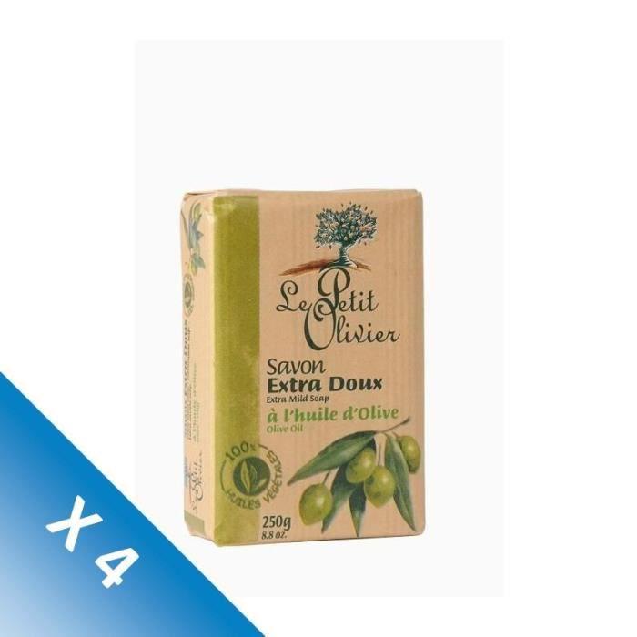 [LOT DE 4] Savon surgras extra doux 250 g Le petit olivier