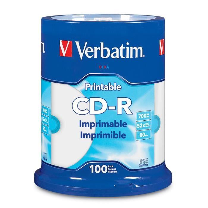 100 CD-R Printable Verbatim
