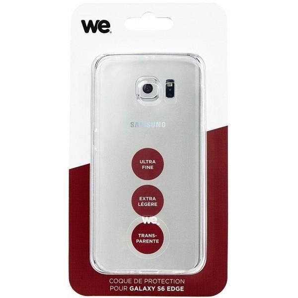 WE Coque de protection pour Galaxy S6 Edge - Semi rigide - Transparente